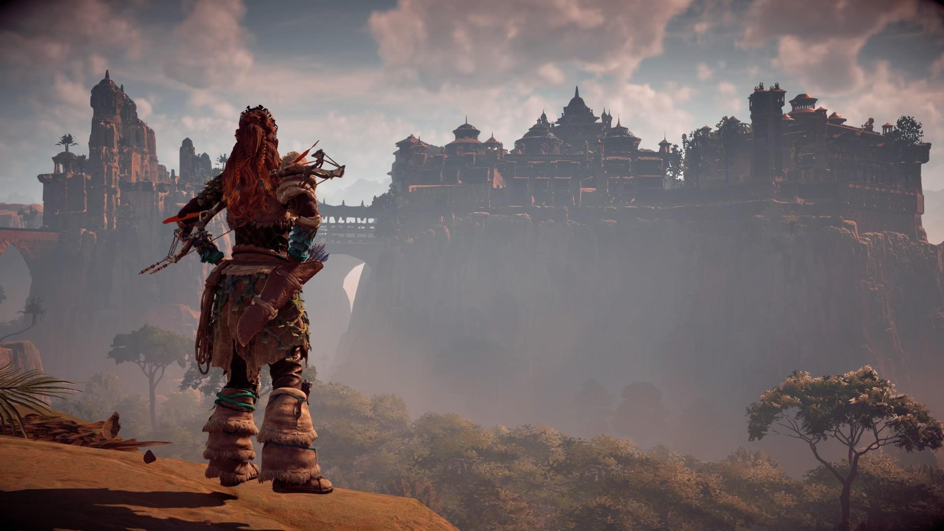 La ciutat de Meridian, la mena de paisatge encantarèl que sabrondan dins Horizon.
