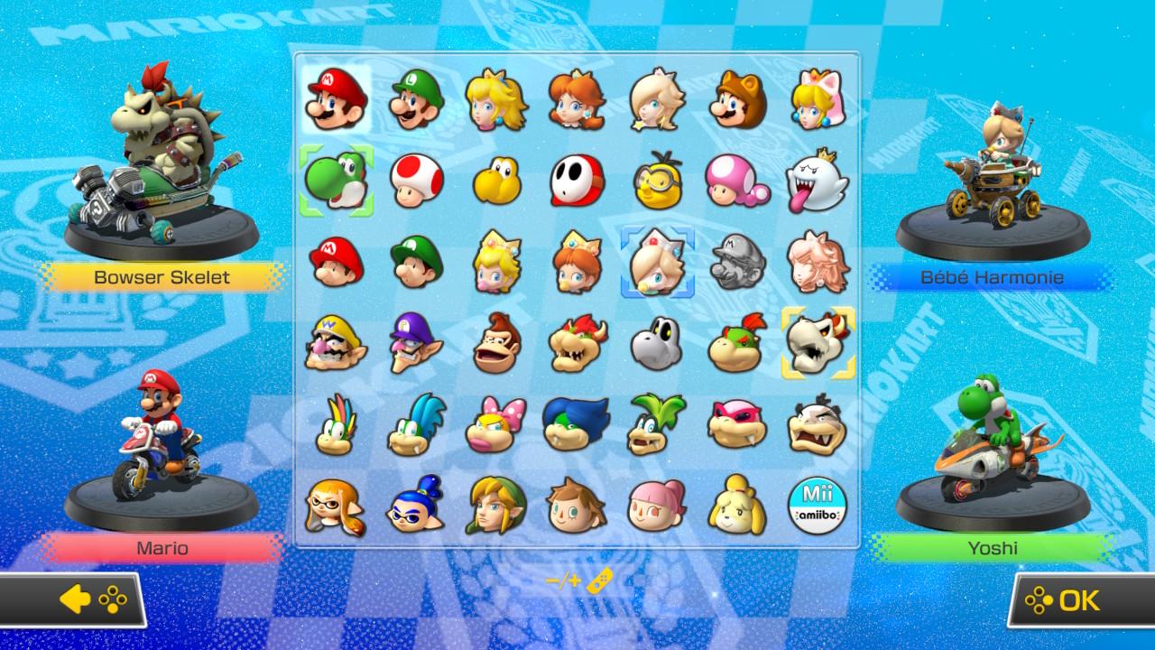 Personatges Mario Kart 8