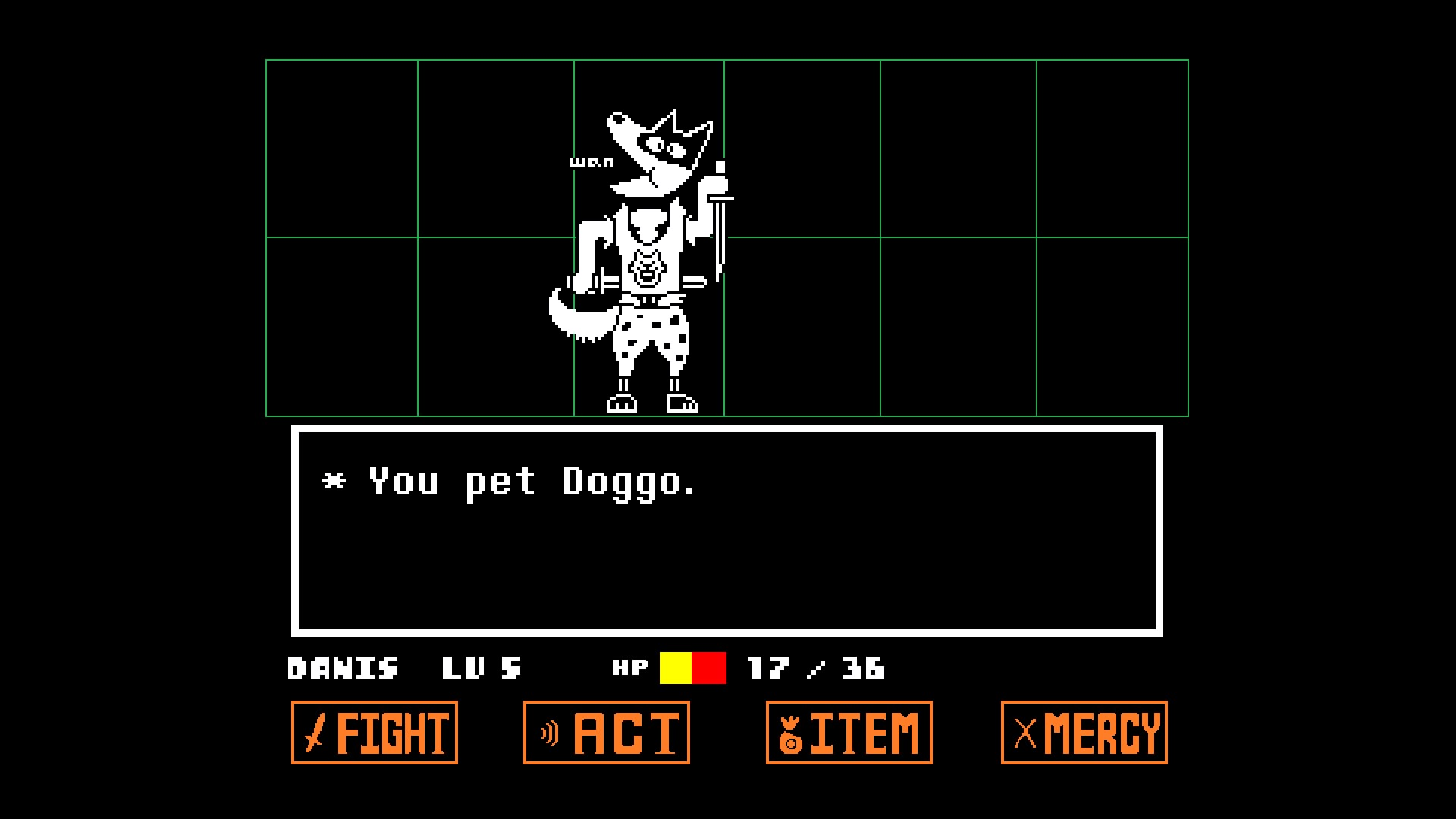 Undertale pet Doggo